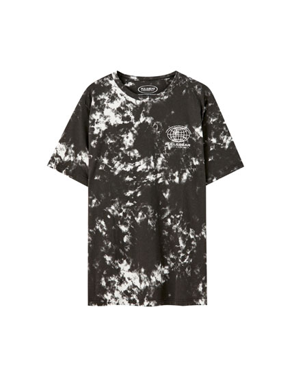 Tie-dye T-shirt with logo