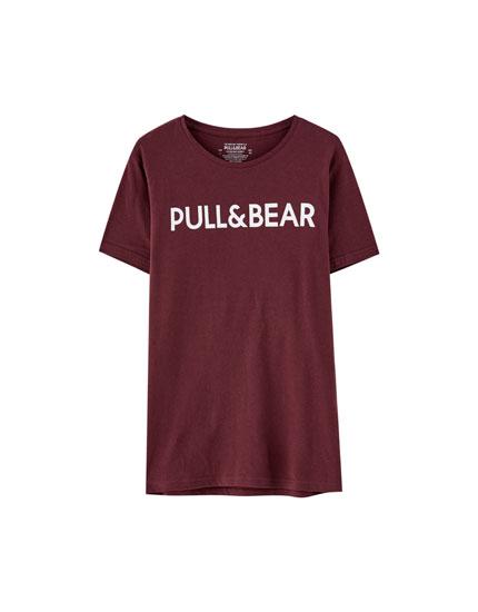 Camiseta logo manga corta
