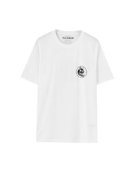 Snake T-shirt with patch slogan