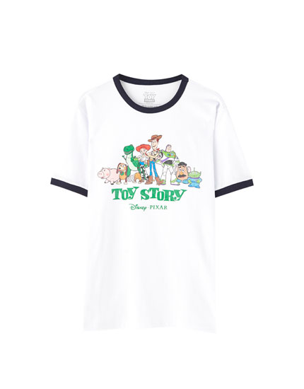 Camiseta Toy Story rib contraste