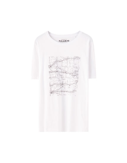 Map illustration T-shirt
