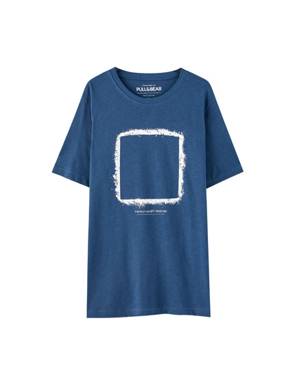 Navy blue T-shirt with salt design