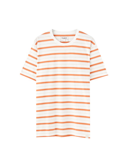 Mini stripe print T-shirt
