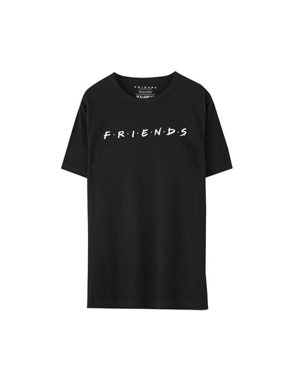 Camiseta Friends logo negra