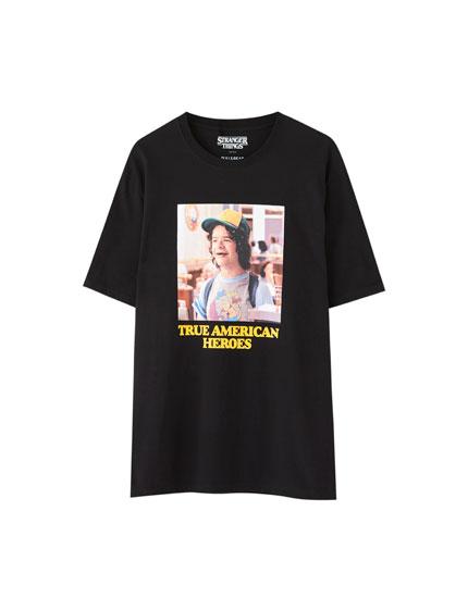 T,shirt Stranger Things 3 noir Dustin