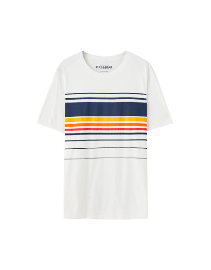White T-shirt with horizontal stripes