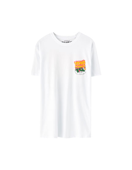 "White ""Young Bones"" T-shirt"