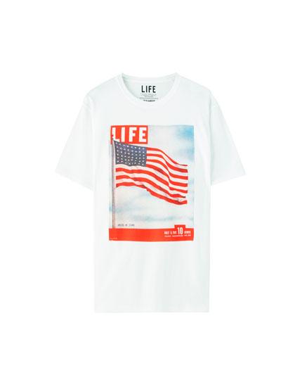 Μπλούζα με εικόνα σημαία «Life»