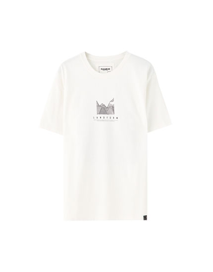 "Graphic ""Landform"" illustration T-shirt"