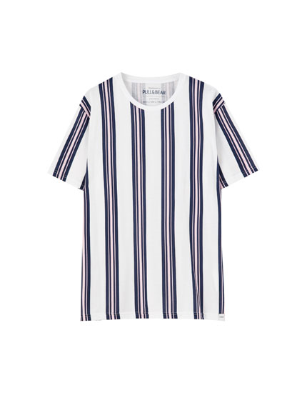 Μπλούζα basic με κάθετες ρίγες