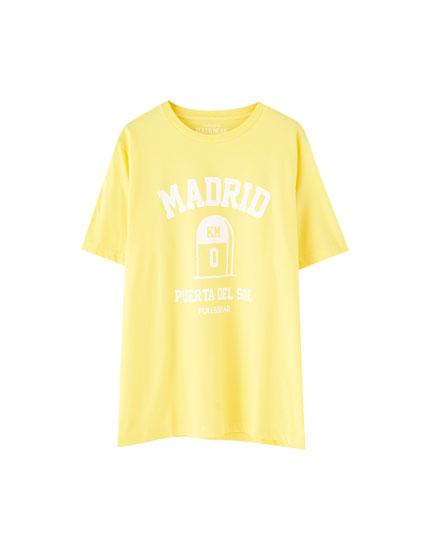 Camiseta amarilla Madrid