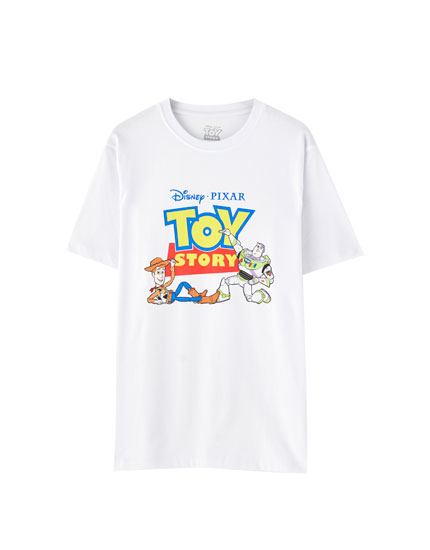 T-shirt branca do Toy Story