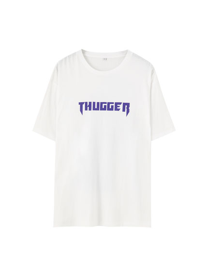 Weißes T-Shirt Young Thug