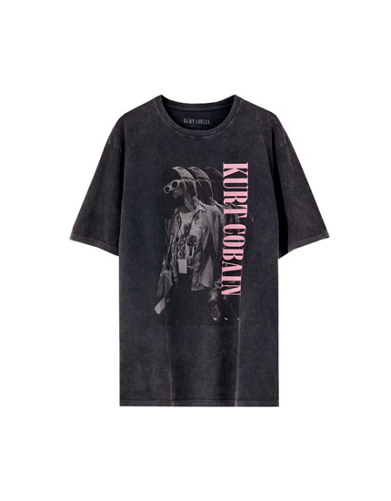 T-shirt do Kurt Cobain em preto