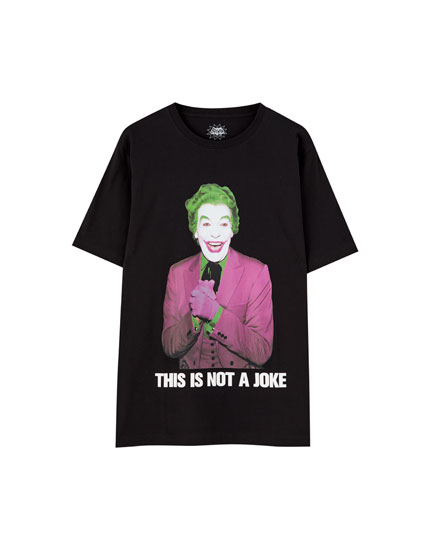Cotton Joker T-shirt in black