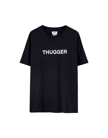 Camiseta negra 'Thugger'