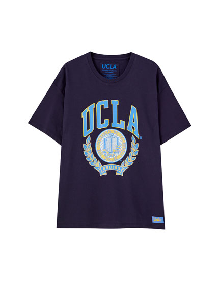 T-Shirt UCLA x Pull&Bear in Blau
