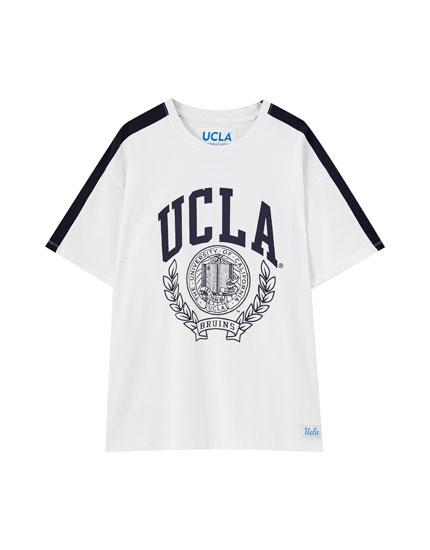 White UCLA x Pull&Bear T-shirt