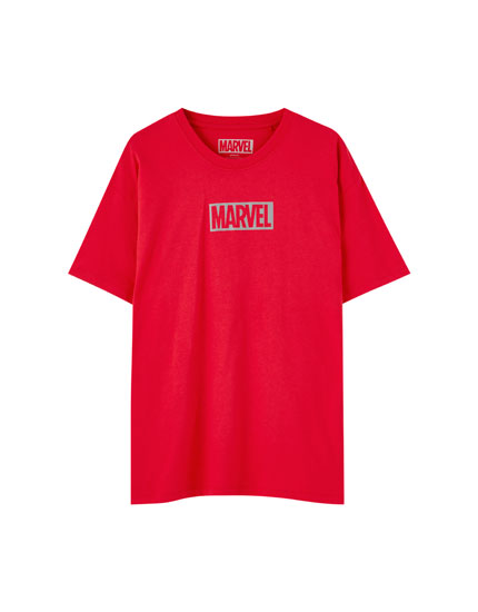 Marvel T-shirt with reflective logo