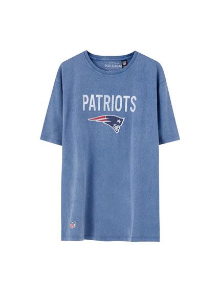 T-shirt dos Patriots em azul