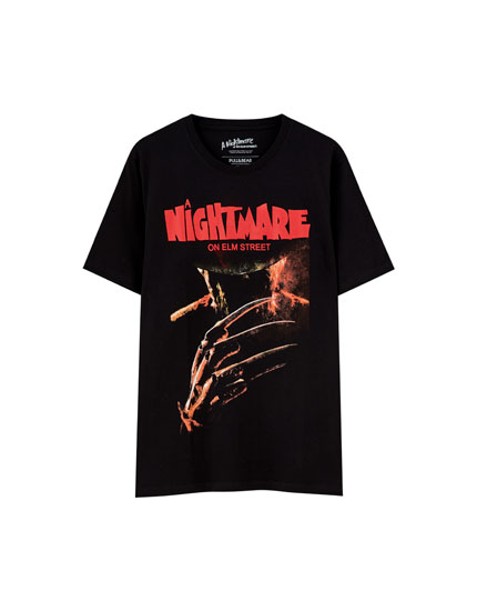 T-shirt med Nightmare on Elm Street