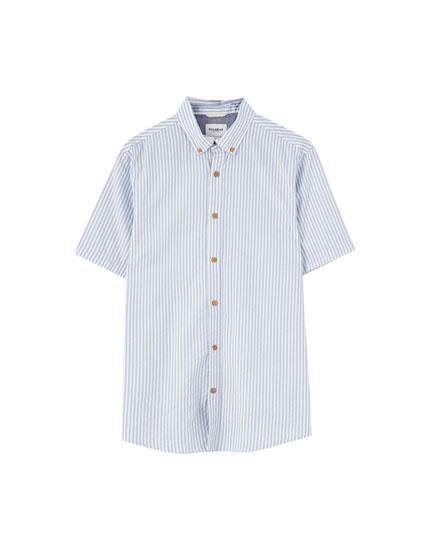 Short sleeve mini-print shirt