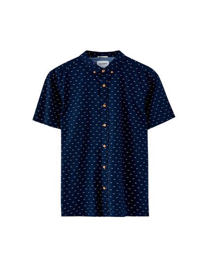 Camisa de manga curta com mini estampado