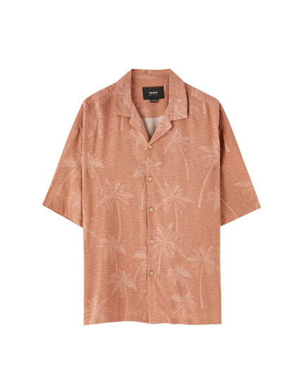 Palm tree sunset viscose shirt