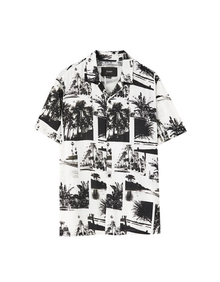 Photographic print shirt