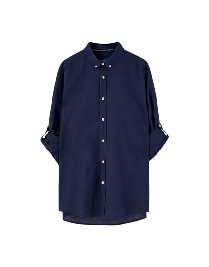 Basic long sleeve linen shirt