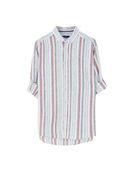 Basic long sleeve linen shirt
