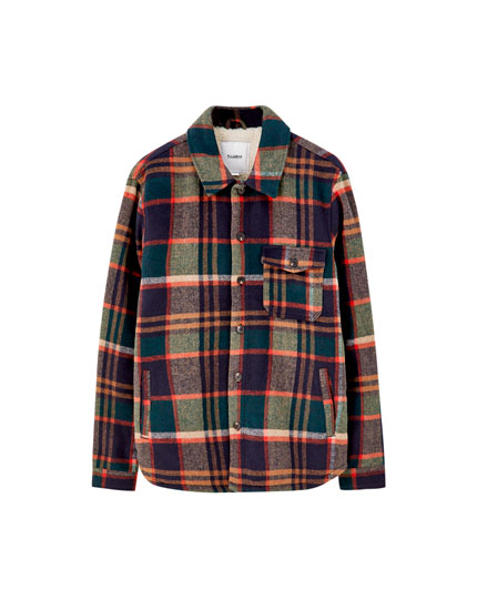 Check print overshirt