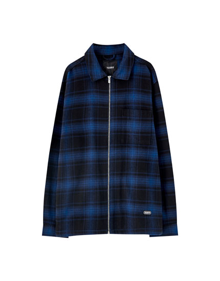 Checked shirt with zip