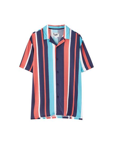 Camisa rayas verticales viscosa