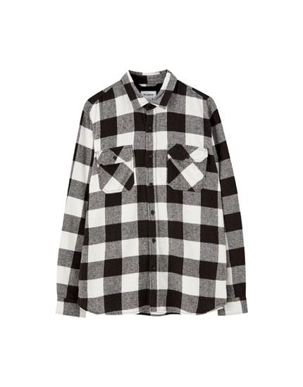 Καρό πουκάμισο basic από φανέλα