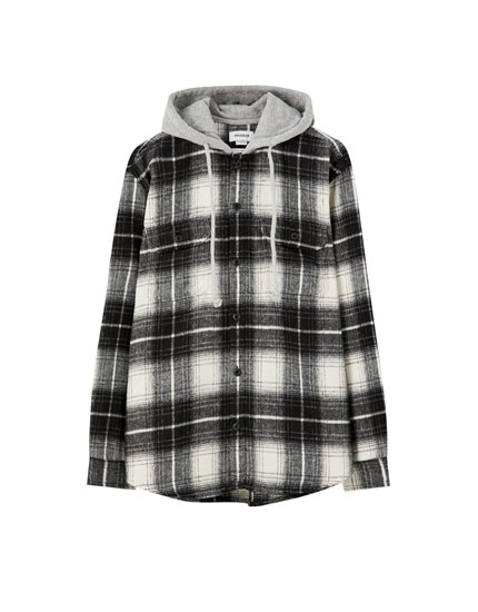 Check flannel overshirt