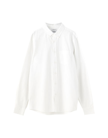 Long sleeve basic cotton shirt