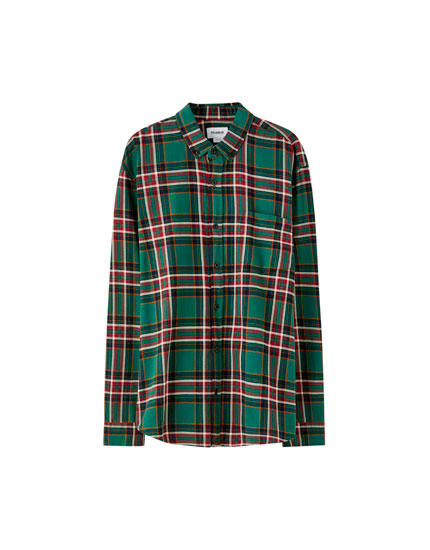 Basic coloured check shirt
