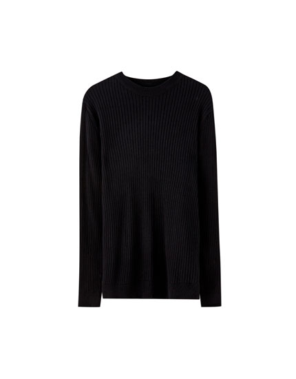 Basic sweater i ribstof
