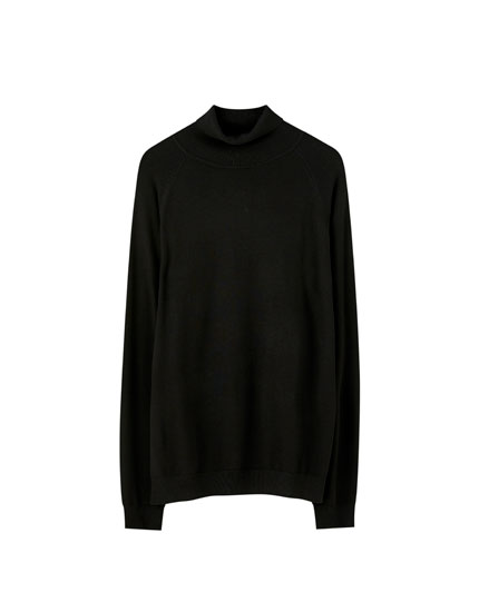 High neck sweater in a range of colours