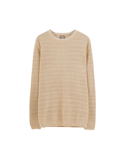 Basic sweater med paneler