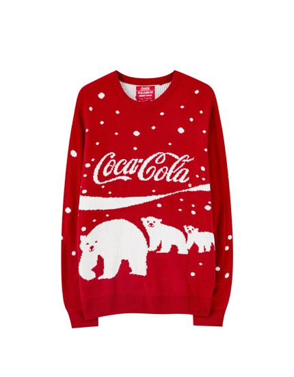 Red Coca-Cola polar bear sweater