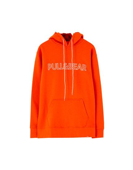 Dessuadora amb caputxa logotip Pull&Bear