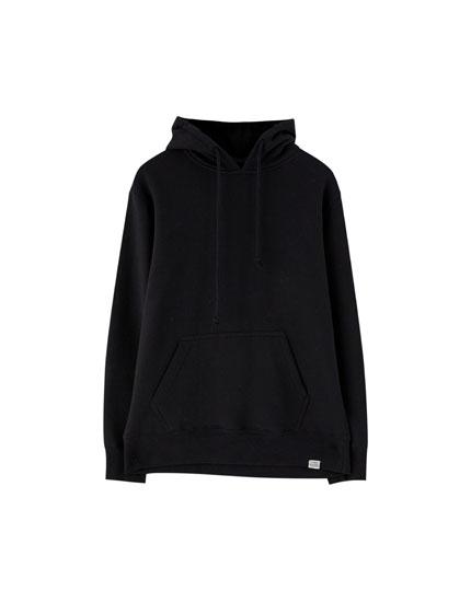 Φούτερ basic με τσέπη hoodie