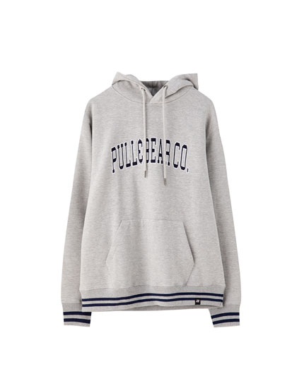Pull&Bear Co. logo hoodie