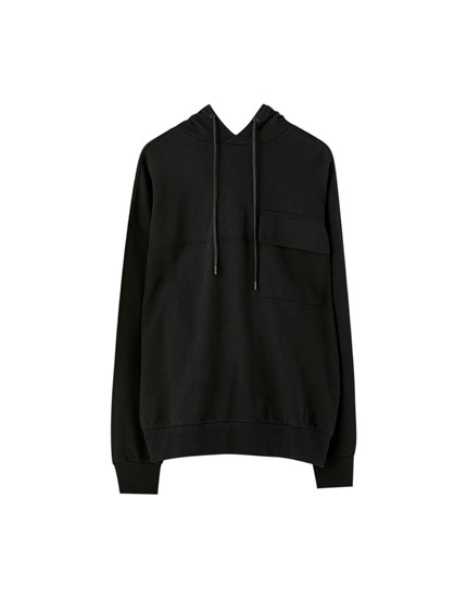 Black hoodie with pockets