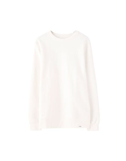 Sweatshirt com decote redondo colorida