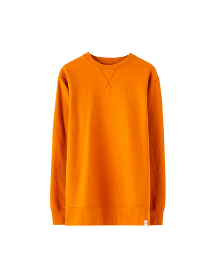 Coloured round neck sweatshirt