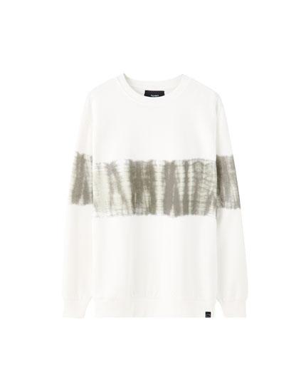 White tie-dye sweatshirt
