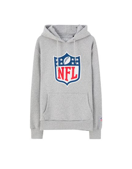 Grå NFL-hættetrøje